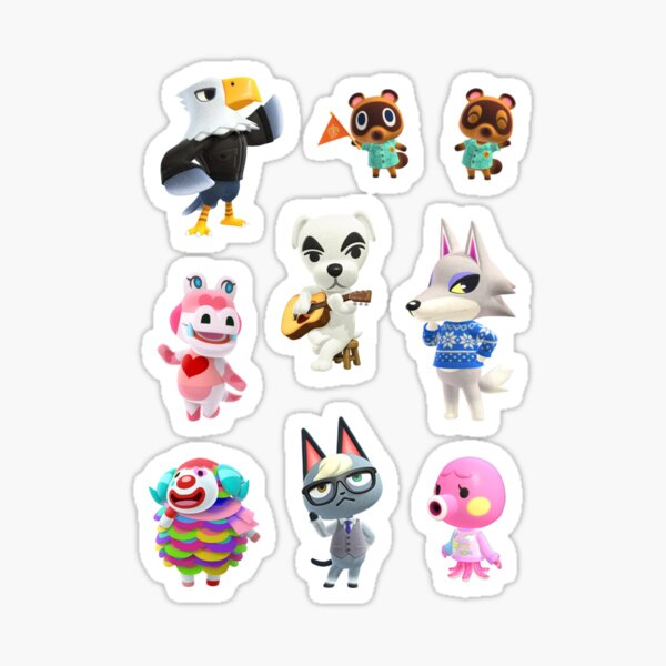 Animal Crossing Characters 2 Sticker