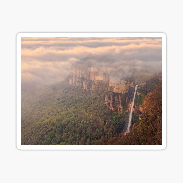 Govetts Leap Lookout and Bridal Veil Falls. Sticker