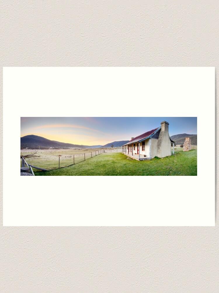 Alternate view of Orroral Homestead, Namadgi National Park, ACT, Australia Art Print