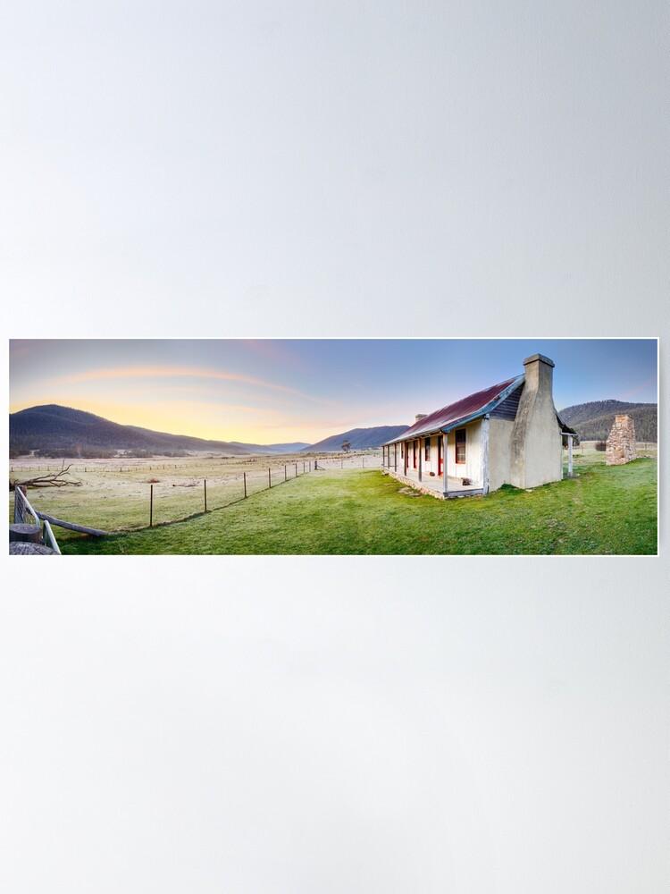 Alternate view of Orroral Homestead, Namadgi National Park, ACT, Australia Poster