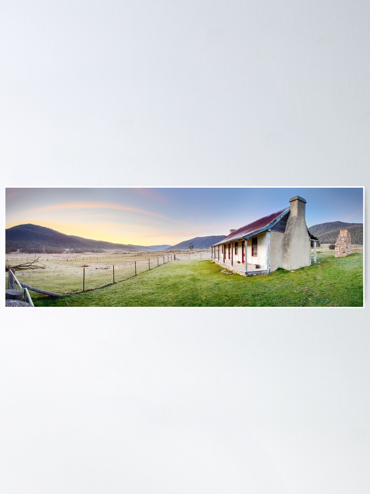 Alternate view of Orroral Homestead, Namadgi National Park, ACT, Australia Poster