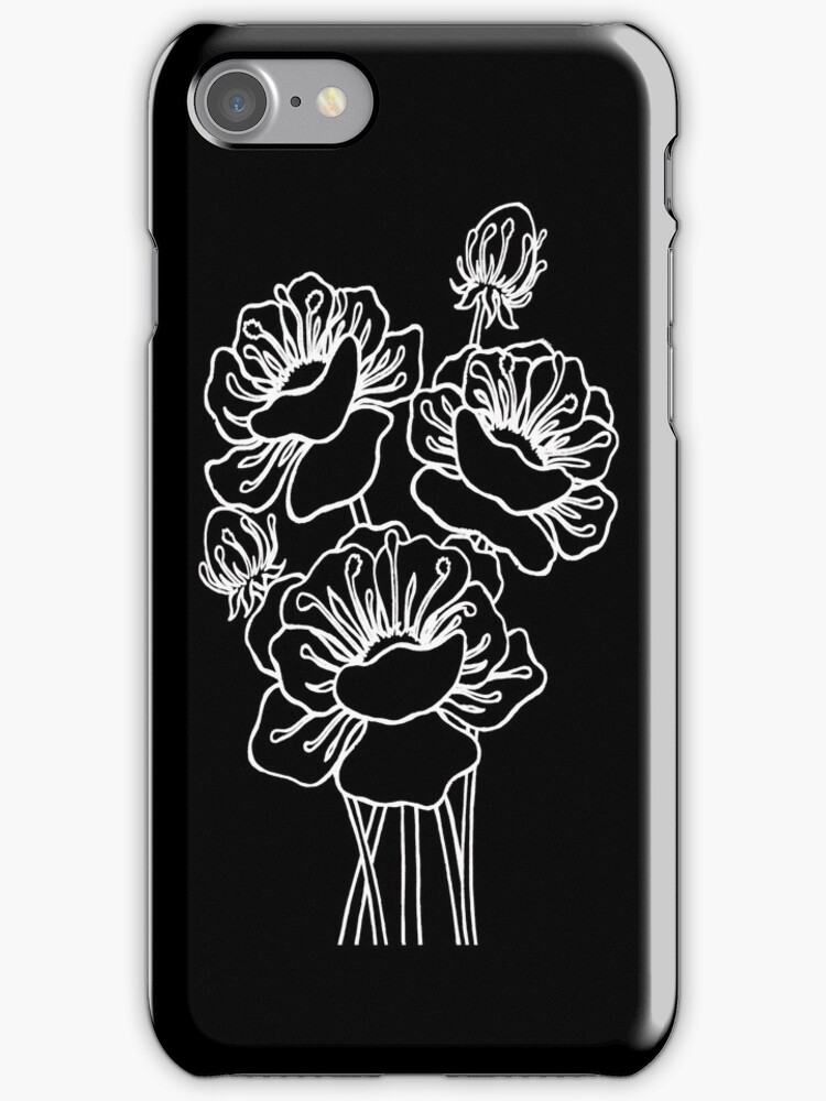 Inked Poppies by Ameda Nowlin