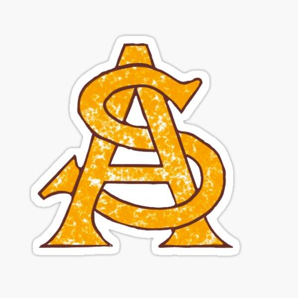 ASU Logo Gold Sticker