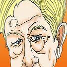 Sandy Gall Cartoon Caricature by Grant Wilson