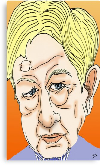 Sandy Gall Cartoon Caricature by Grant Wilson