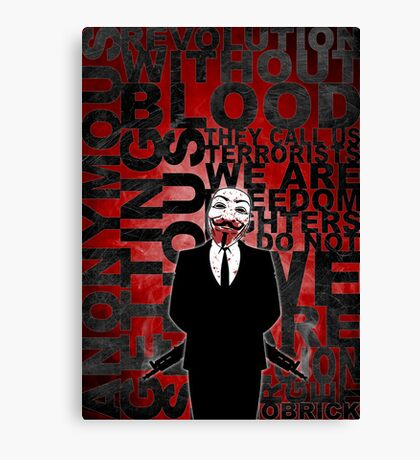 Anonymous revolution without blood ? Canvas Print