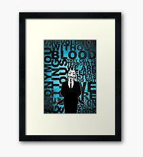 Anonymous revolution without blood ? Cyan Framed Print