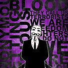Anonymous revolution without blood ? Purple by Shobrick
