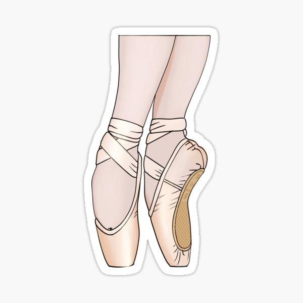 Pink Satin Pointe Shoes Sticker