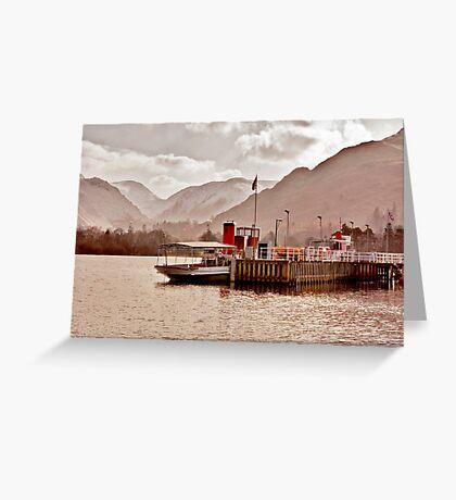Ullswater Steamer Greeting Card