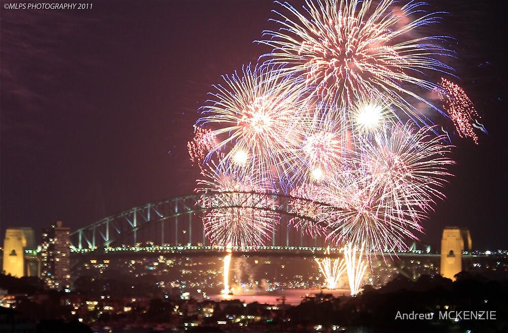 Sydney Harbour Bridge Fireworks, 2011/12 NYE by Andrew  MCKENZIE