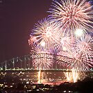 Sydney Harbour Bridge Fireworks, 2011/12 NYE by Andrew  MCKENZIE