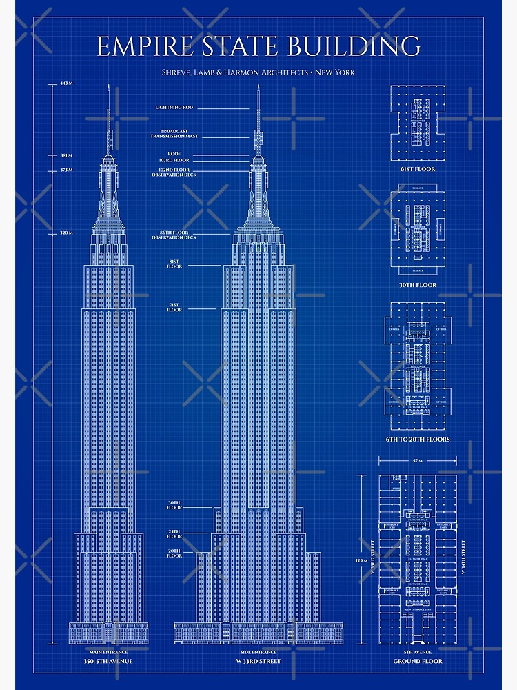 Empire State Building (Blueprint) by BGALAXY
