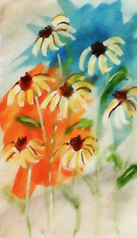 These will make you smile, watercolor by Anna  Lewis, blind artist