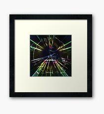 Plotted spacetime Framed Print