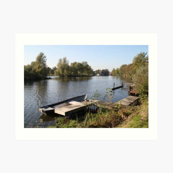 Villa on the Vecht river Art Print