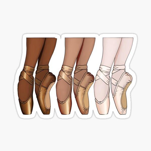 Pointe Shoe Trio Sticker