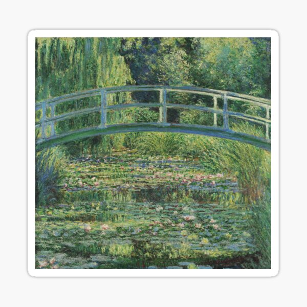 Claude Monet - The Water-Lily Pond Sticker