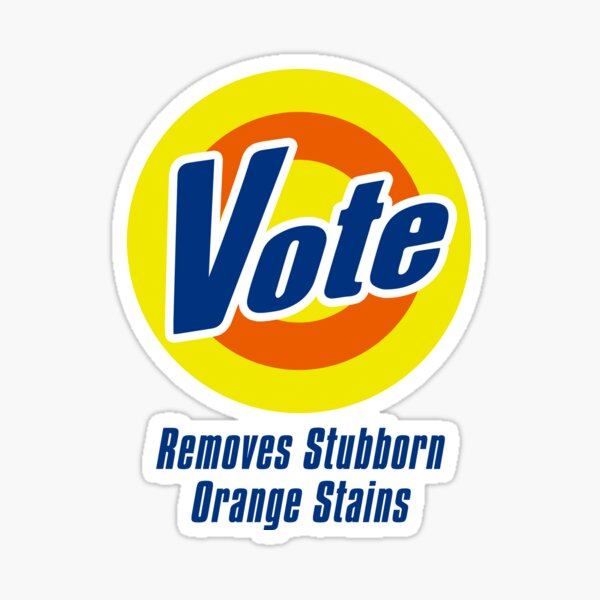 Vote (Tide Parody)  Sticker