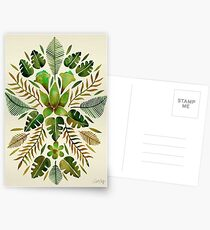 Tropical Symmetry – Olive Green Postcards