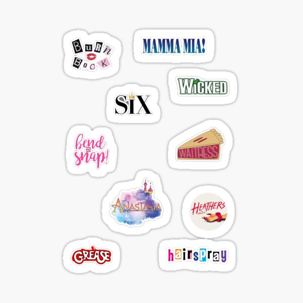 Musicals with Female Leads Pack Sticker