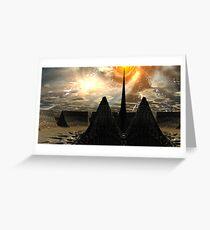 Star Temple Pyramid - Convergence Greeting Card