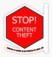 Stop Content Theft Sticker