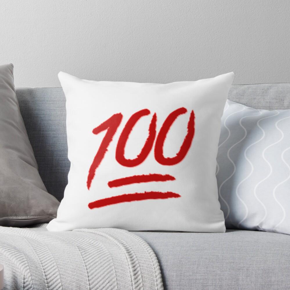 Emoji 100 Throw Pillow