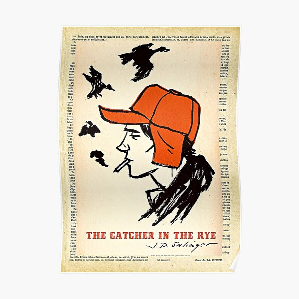 The Catcher in the Rye Vintage Book Cover Art Poster