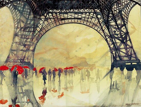 Under the Eiffel Tower by Maja Wrońska