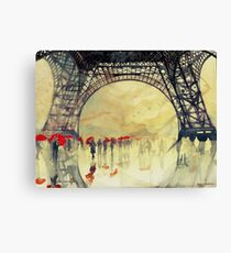 Unter dem Eiffelturm Leinwanddruck