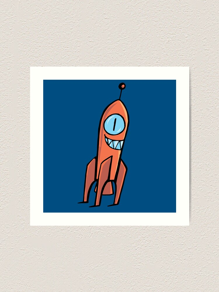 Alternate view of Crazy rockets Art Print