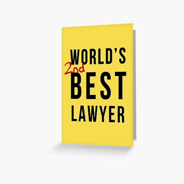 2e meilleur avocat au monde Carte de vœux