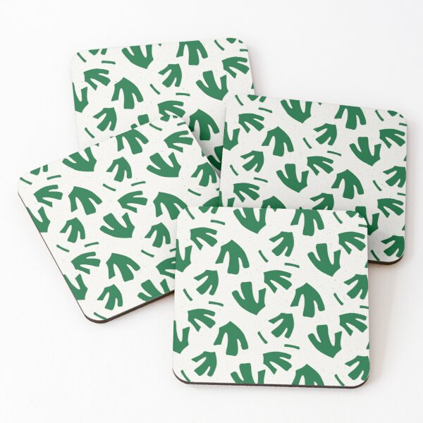 Green Foliage Coasters (Set of 4)