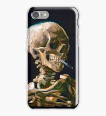 Head of a Skeleton with Lit Cigarette - Vincent van Gogh iPhone Case/Skin