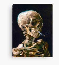 Head of a Skeleton with Lit Cigarette - Vincent van Gogh Canvas Print