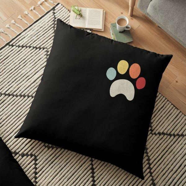 Vintage puppy dog paw, pet lover design, I Love dog Floor Pillow