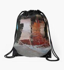 Rain and reflections Drawstring Bag