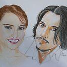""""""" Nalalie and Johnny by artbyjay"""