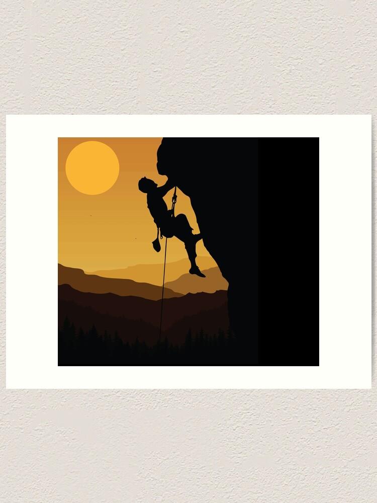 Rock Climbing Kids Childrens Hoodie Hoody Funny Rock Climbing Sunset