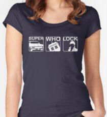 SuperWhoLock Horizontal Women's Fitted Scoop T-Shirt