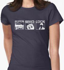 SuperWhoLock Horizontal Women's Fitted T-Shirt