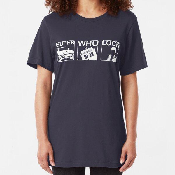 SuperWhoLock Horizontal Slim Fit T-Shirt