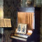 Piano and Sheet Music on Stand by Susan Savad