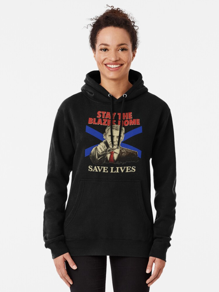 Alternate view of Stay the Blazes Home for dark shirts Pullover Hoodie