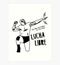 LUCHADOR 1019 Art Print