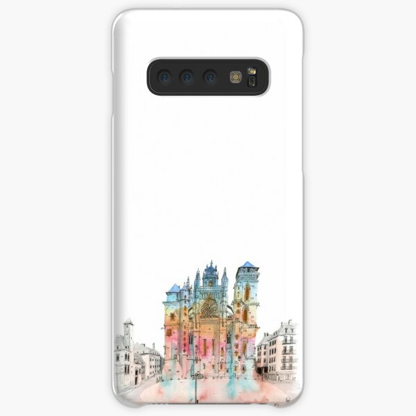 Sketch of Rodez cathedral Samsung Galaxy Snap Case