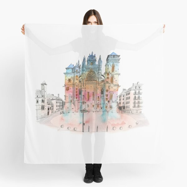 Sketch of Rodez cathedral Scarf
