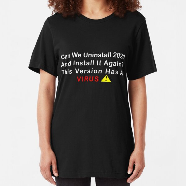 coronavirus funny design Slim Fit T-Shirt