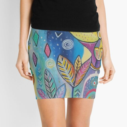 Peaceful Dream Colourful Face Mask and Products by Joy Fahey Mini Skirt